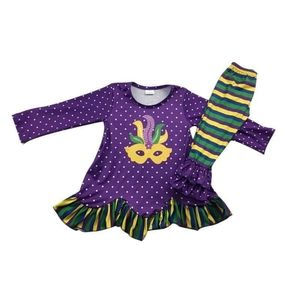 Mardi gras childrens outfit